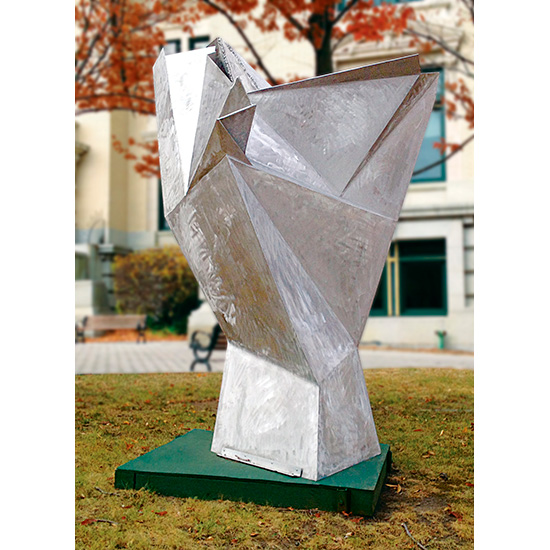 Facets (2011), on site at Yonkers City Hall, Yonkers, NY